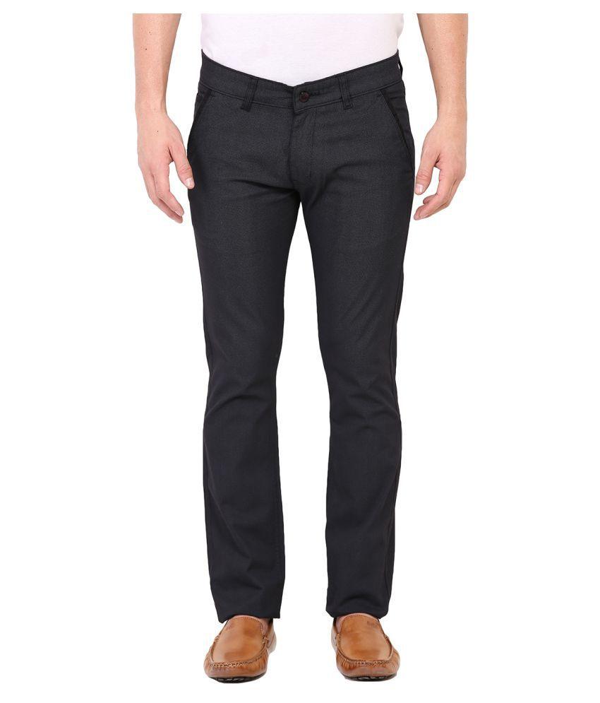 Dais Blue Regular Flat Trousers
