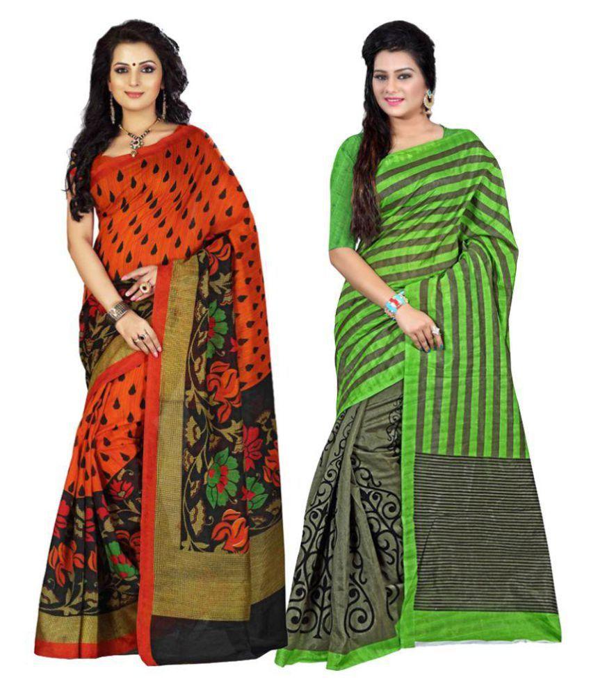 Sudev Multicoloured Bhagalpuri Silk Saree Combos