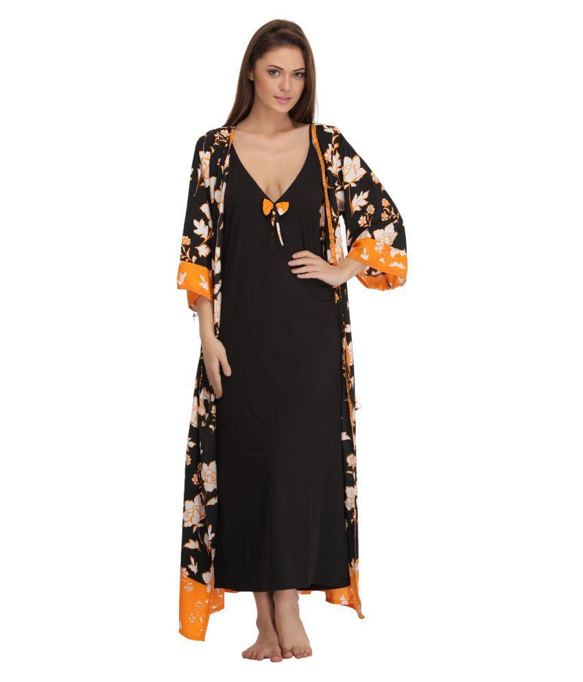 99c34c9ab4 Buy Clovia Cotton Nighty & Robe Set Online at Best Prices in India ...