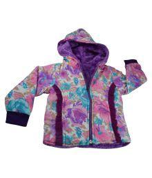 Mama & Bebes Multicolor Reversible Fleece Jacket