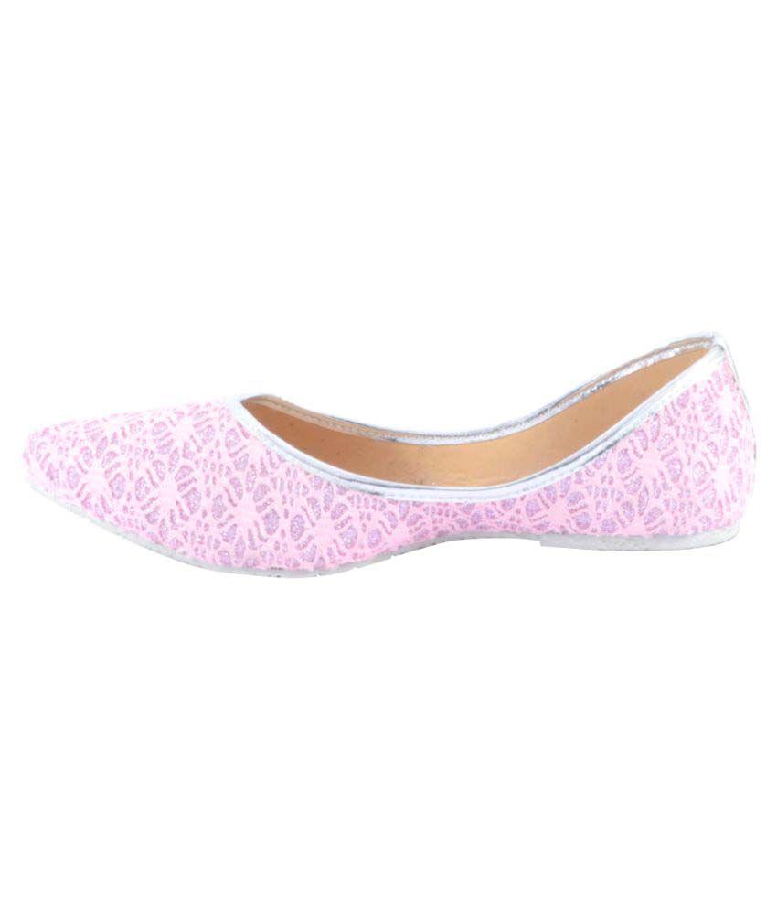 Tamanna Pink Flat Ethnic Footwear