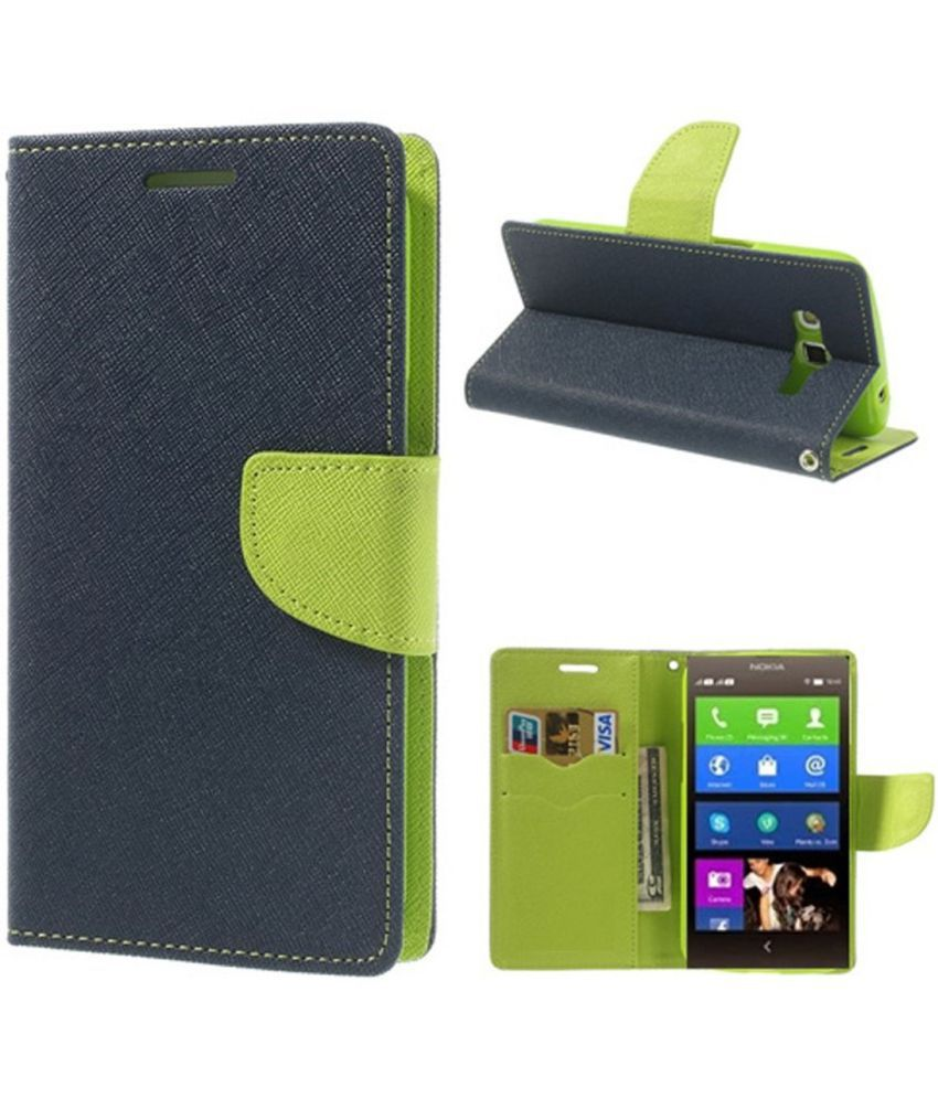 Micromax YU Yuphoria Flip Cover by Cover Wala - Blue
