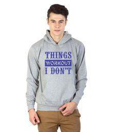 Printland Grey Hooded Sweatshirt