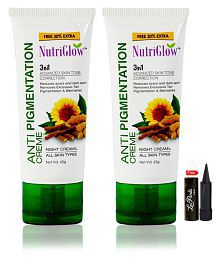 Nutriglow Anti Pigmentation Night Creame Night Cream 65 Gm Pack Of 2
