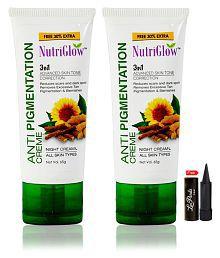 Nutriglow Anti Pigmentation Night Creame Night Cream 65 Gm Pack Of 2
