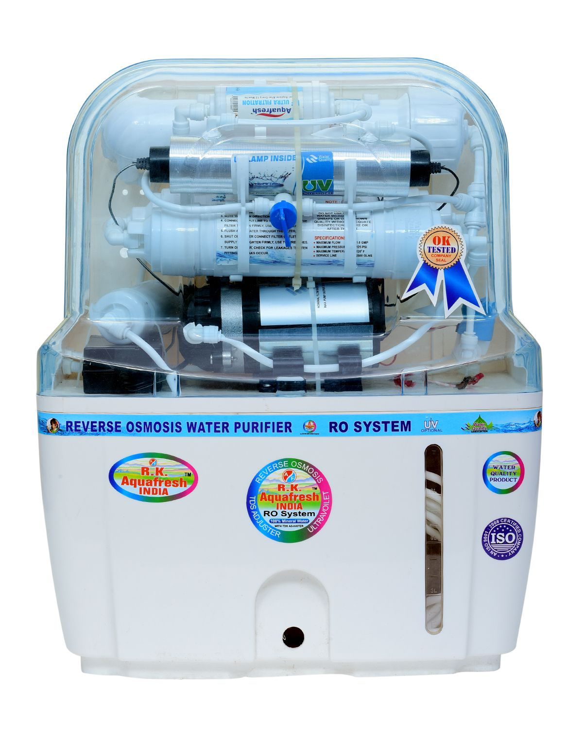 R.K. Aqua Fresh India SWIFT 15ltrs 14stage Advanced Mineral  Technology ROUVUF Water Purifier