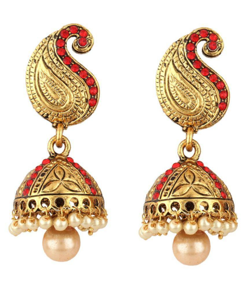 Angel In You Multicolor Alloy Jhumki Earrings
