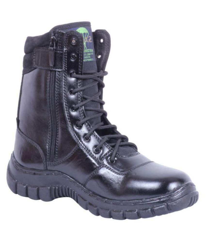Nuan Military Shoes Black Hiking & Trekking Boot