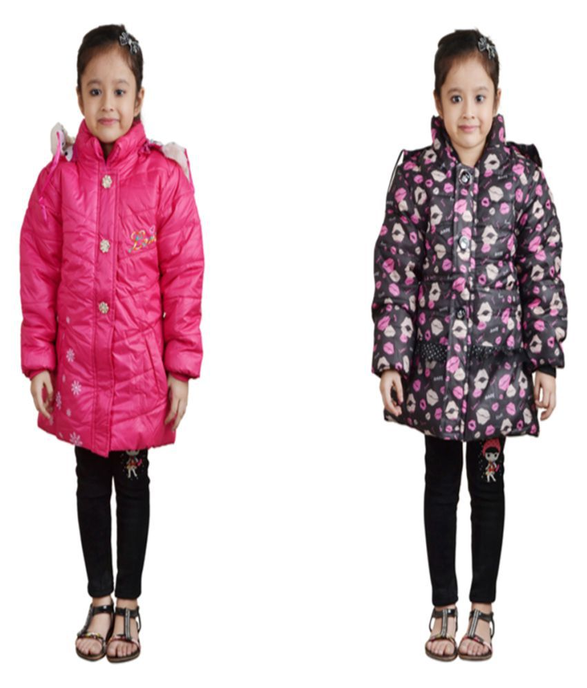 Crazeis Multicolour Full Sleeves Nylon Jackets Combo Of 2