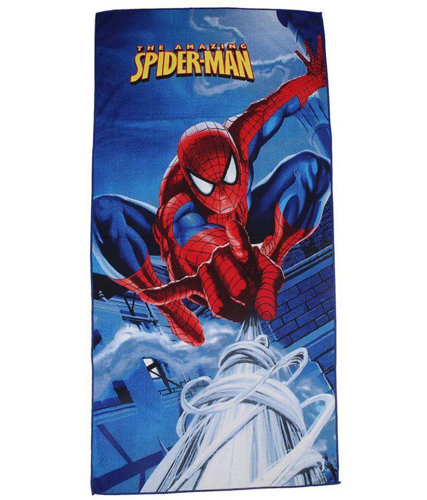 Belomoda Multi Blends Bath Towels 1 Spider man Printed