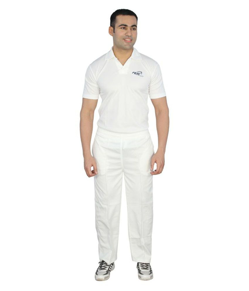 Rs Sports White T-Shirt & Trackpant Set