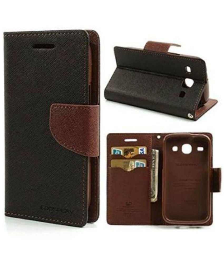 Sony Xperia M2 Flip Cover by Goldenize - Brown