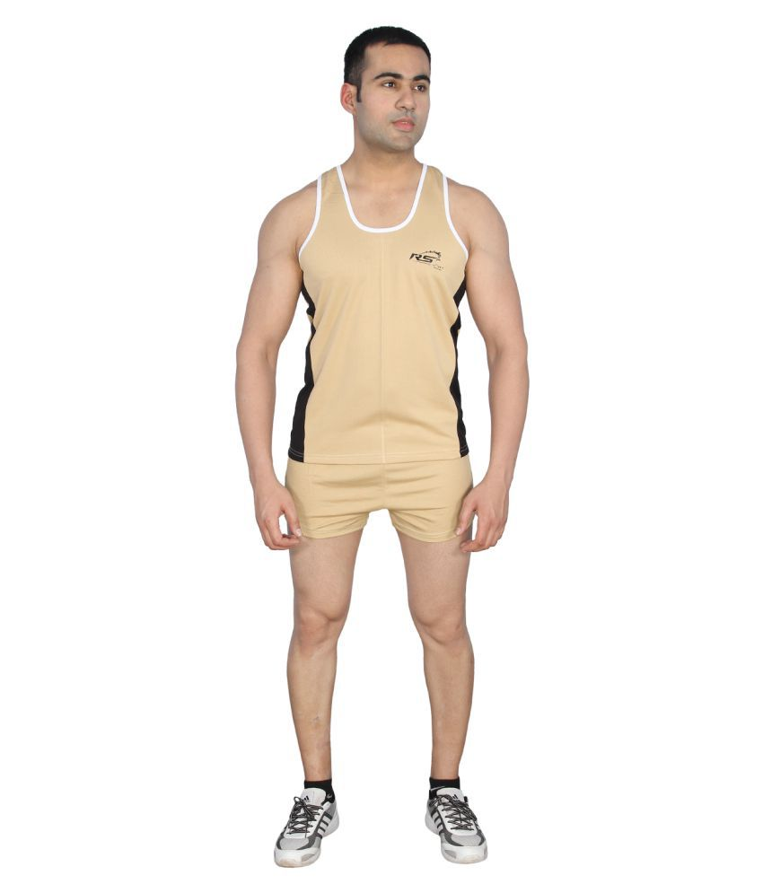 RS Sports Brown Active Wear