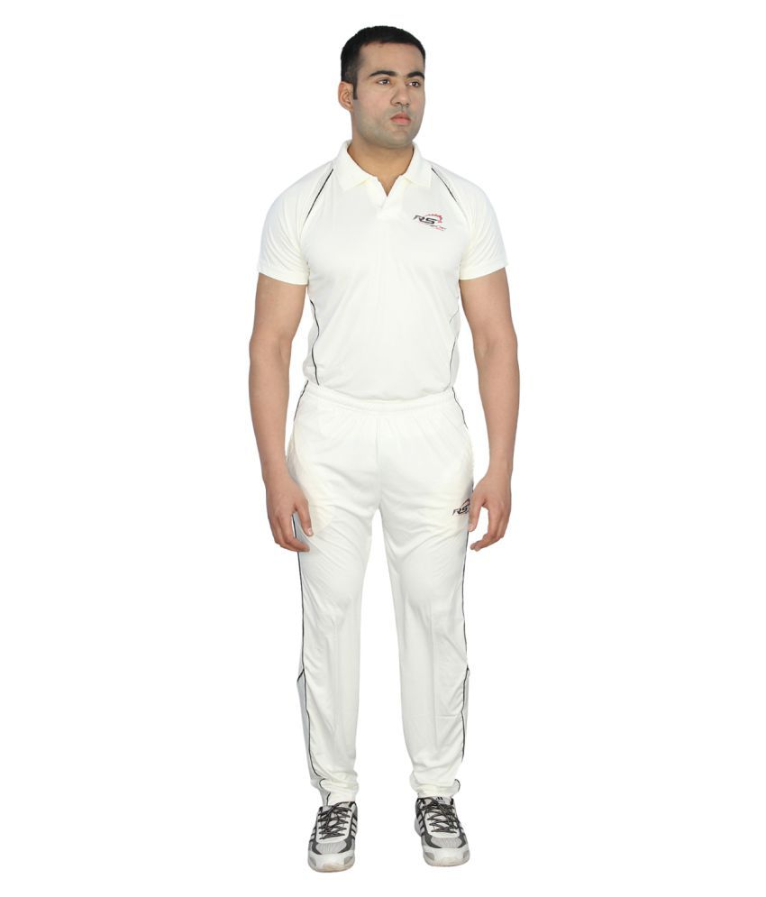 RS Sports White Active Wear