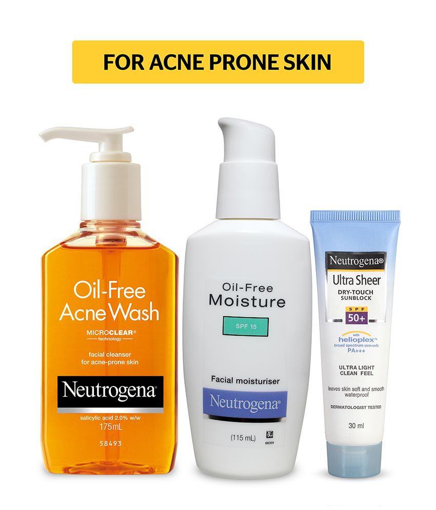 neutrogena acne prone skin combo oil free acne face wash
