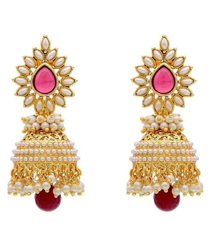 Penny Jewels Multicolour Designer Alloy Jhumki Earrings