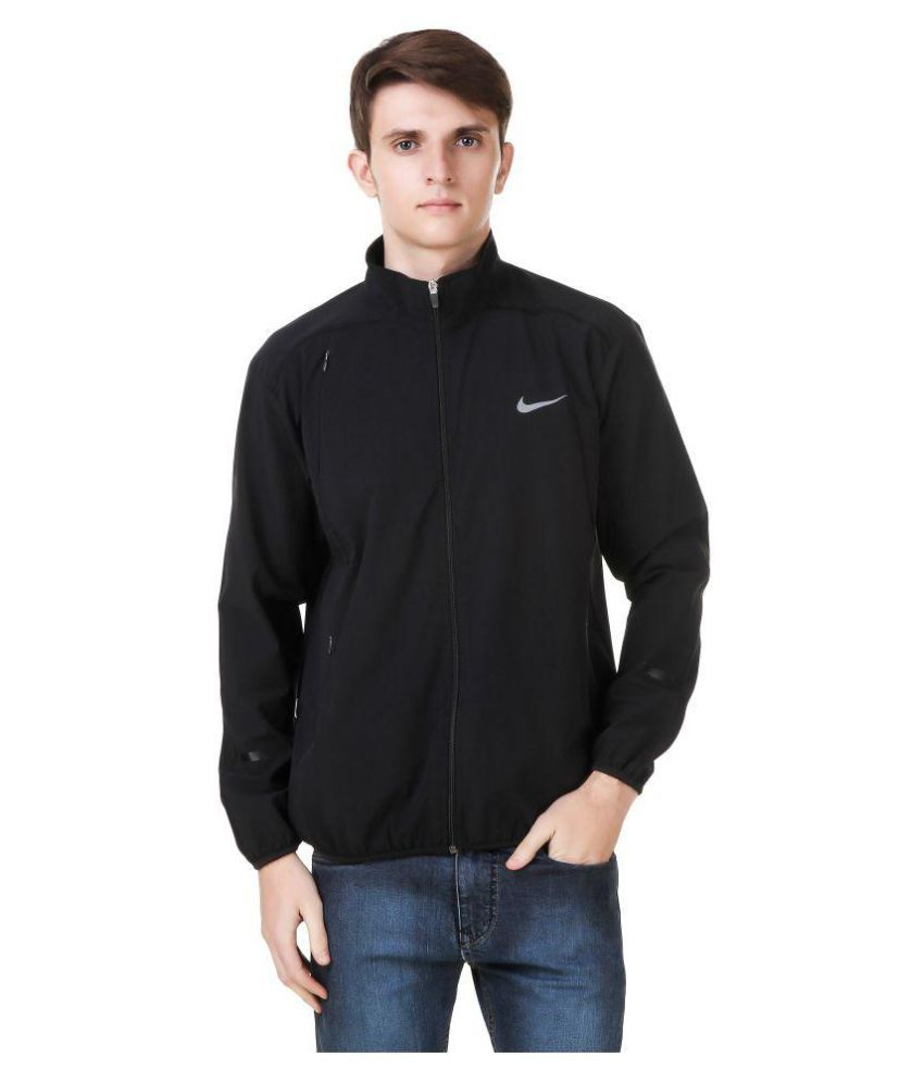 fa88d38cdbff Nike Black Polyester Terry Jacket - Buy Nike Black Polyester Terry ...