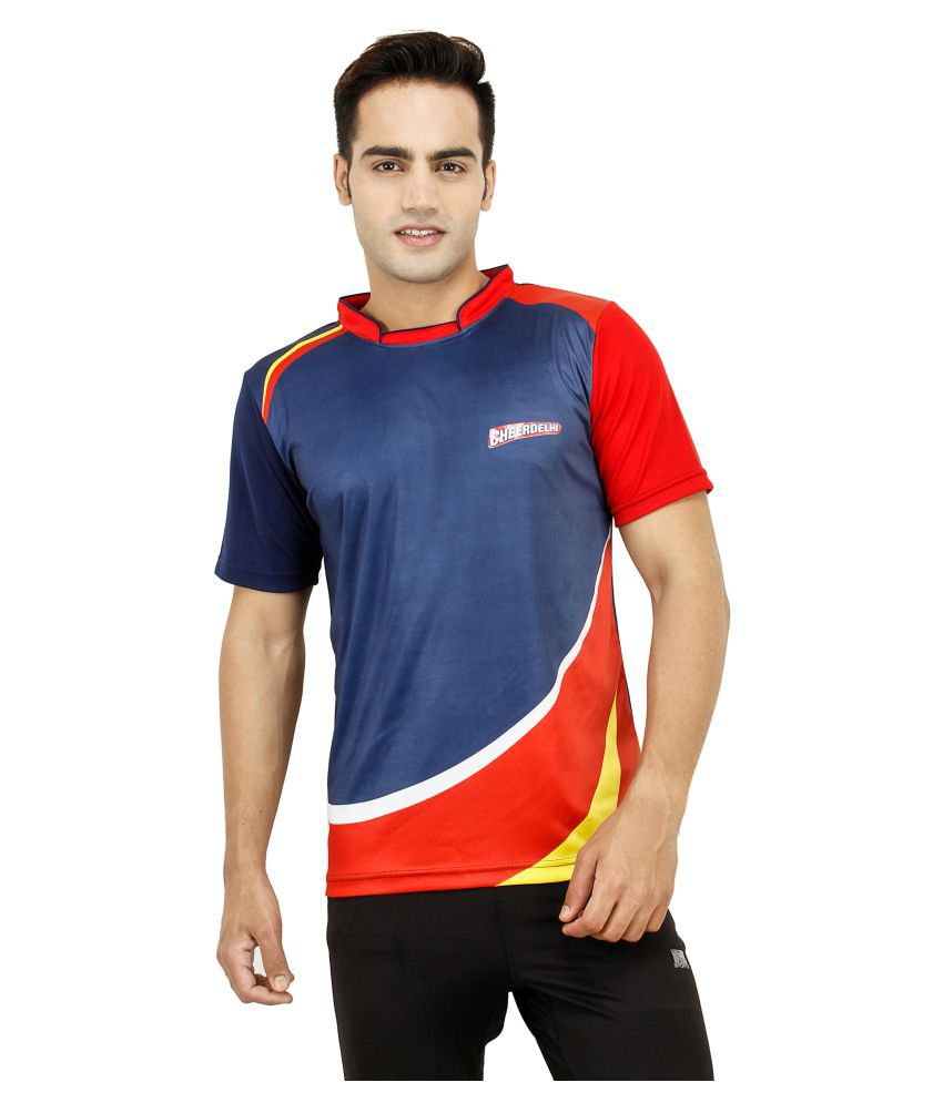 T10 Sports Multi Cotton Lycra T-Shirt
