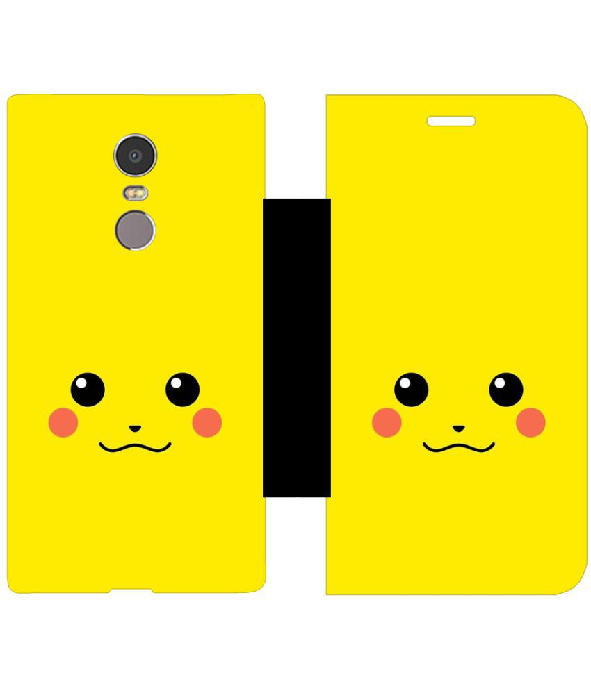 Lenovo K6 Note Flip Cover by Skintice - Yellow