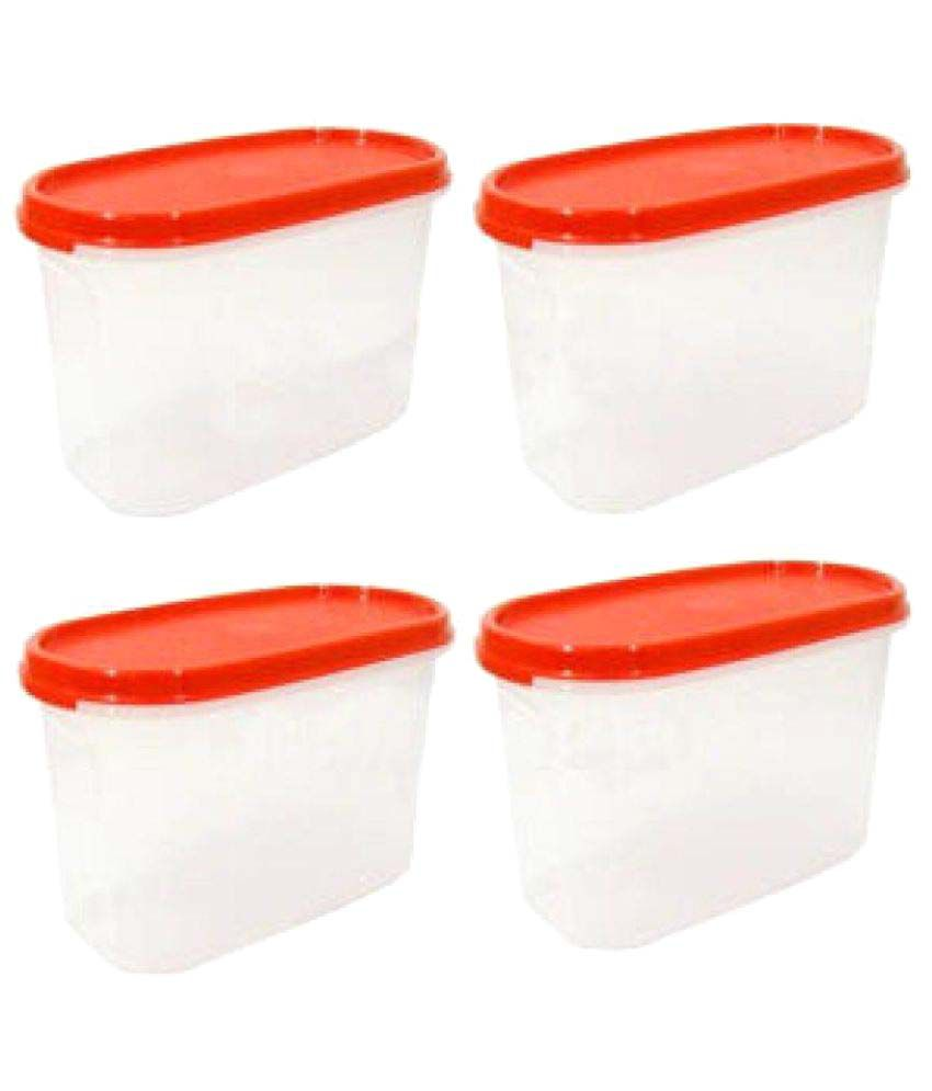 5714e6edef5 Tupperware Polyproplene Food Container Set of 4  Buy Online at Best Price  in India - Snapdeal
