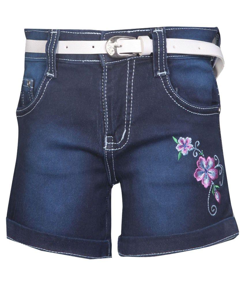 Fck-3 Denim Shorts for Girls