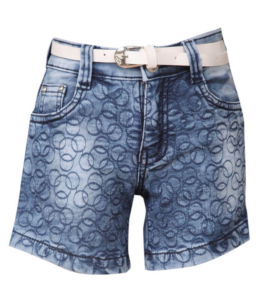 FCK-3 Blue Denim Shorts