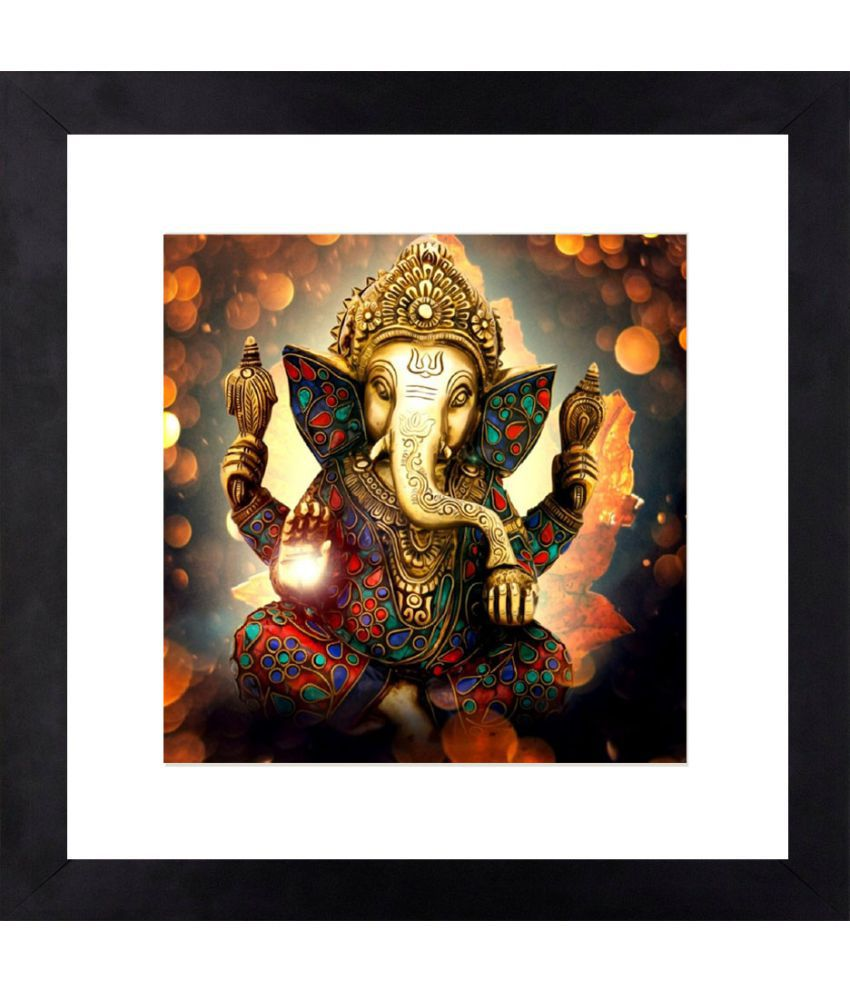 Craftsfest Gods of Blessing Canvas Painting With Frame Single Piece