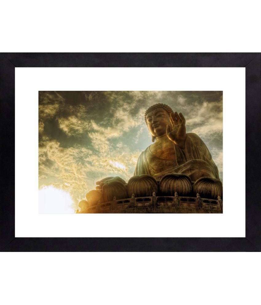 Craftsfest God of Peace Canvas Painting With Frame Single Piece