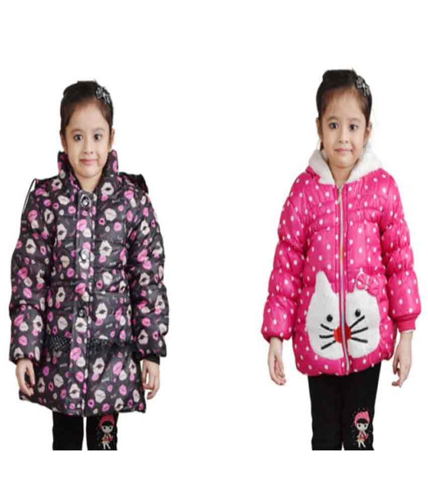Crazeis Multicolour Full Sleeves Nylon Jacket - Pack of 2