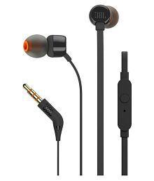 JBL T110 In Ear Wired Earphones With Mic Black