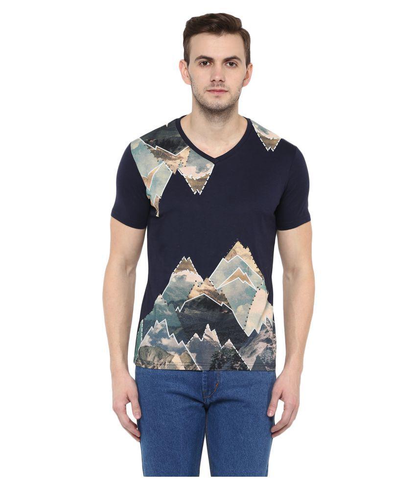Fritzberg Navy V-Neck T-Shirt