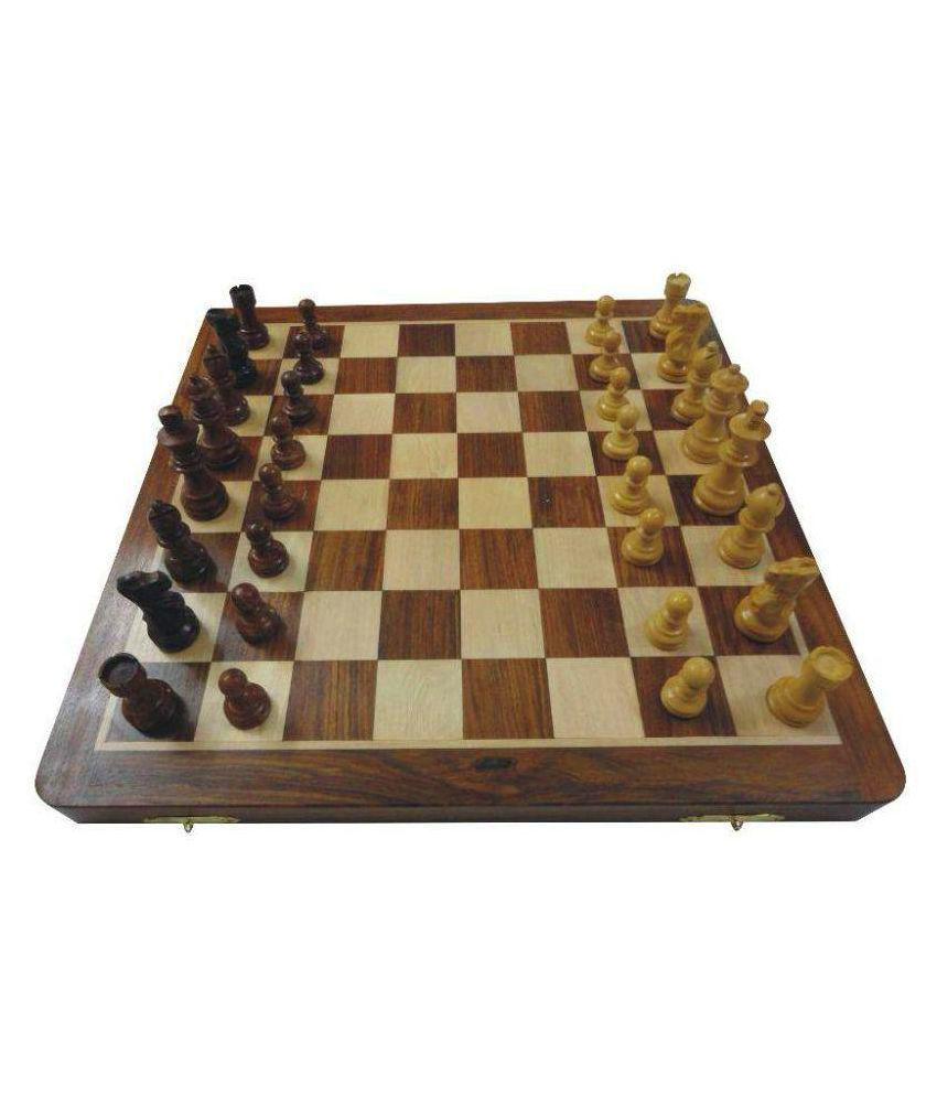 Huzain Handicraft Multicolour Wooden Chess Board