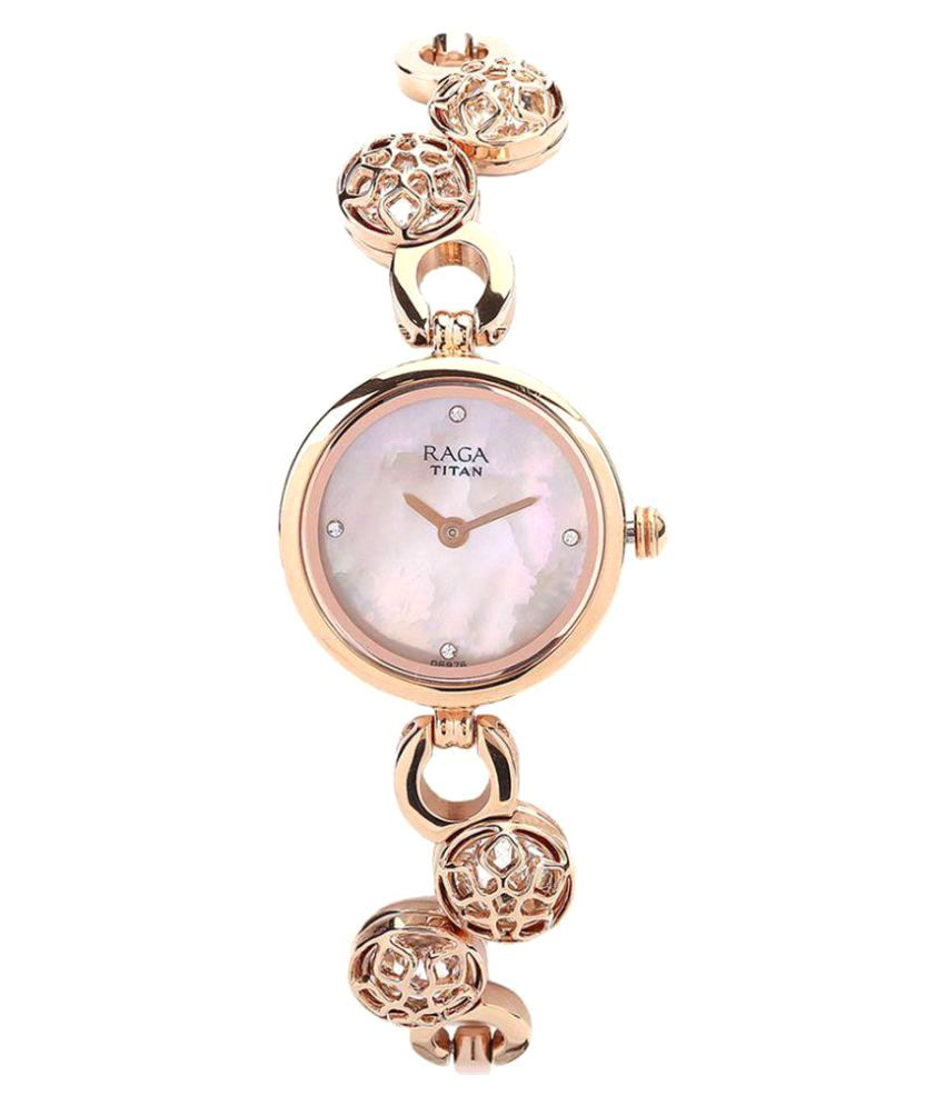 5b29f8f8aac Titan Raga Moonlight Mop Analog Mother of Pearl Dial Women s Watch -  311WM04 Price in India  Buy Titan Raga Moonlight Mop Analog Mother of Pearl  Dial ...