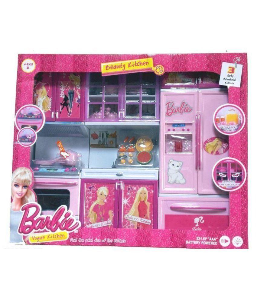 Kitchen Set Of Barbie: Viru Multicolor Barbie Kitchen Set