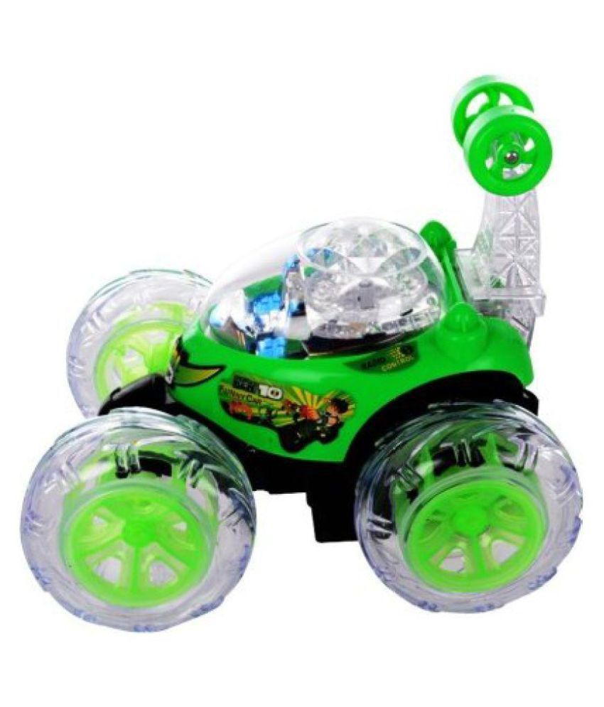 Abhitoys Ben 10 Rc Stunt Car With Steering Wheel Function