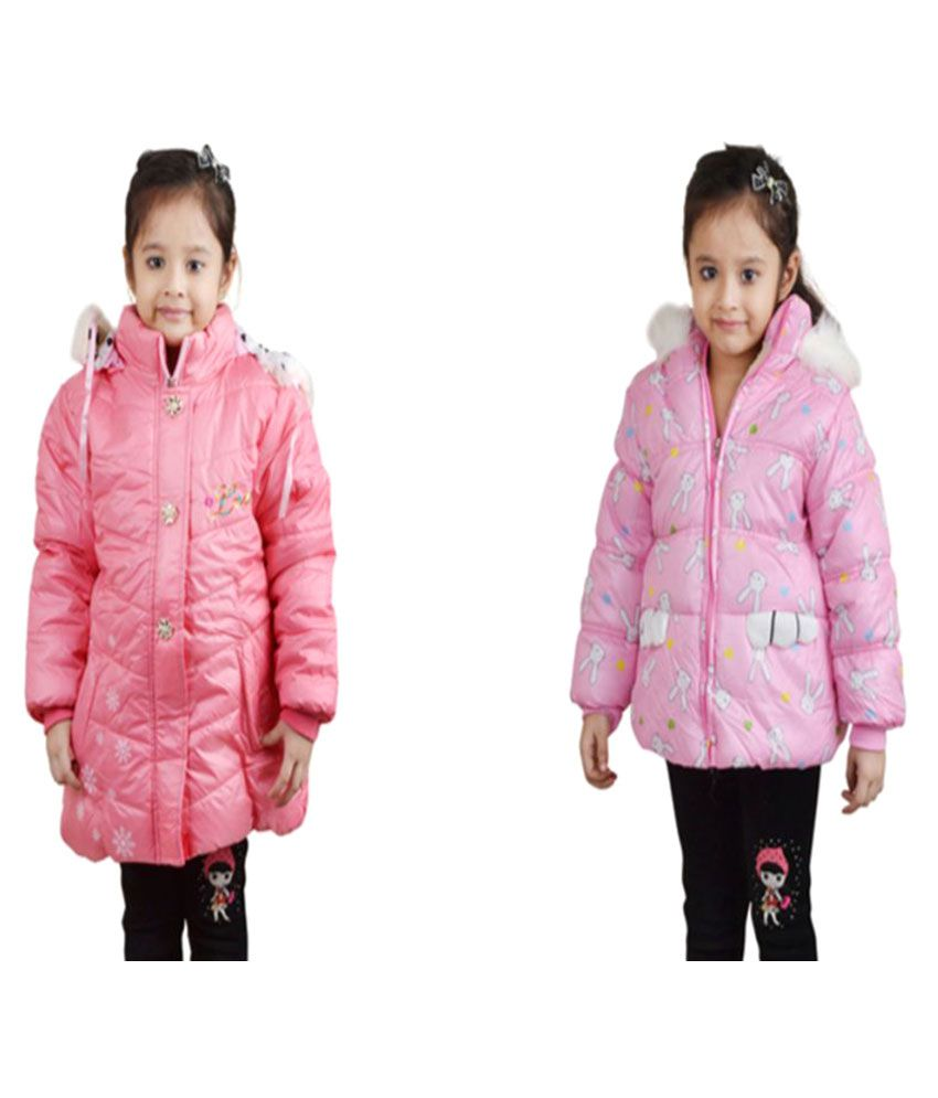 Crazeis Pink Quilted and Bomber Jacket - Set of 2