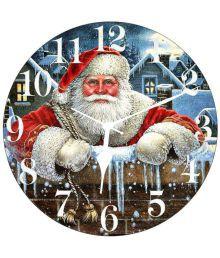 3d India Circular Analog Wall Clock 3d Crishtmas Santa 30