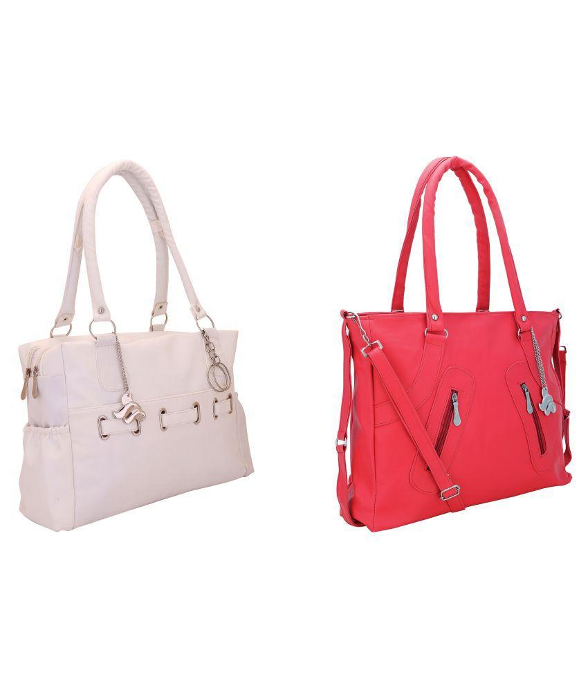Lady Bar Multi Artificial Leather Shoulder Bag