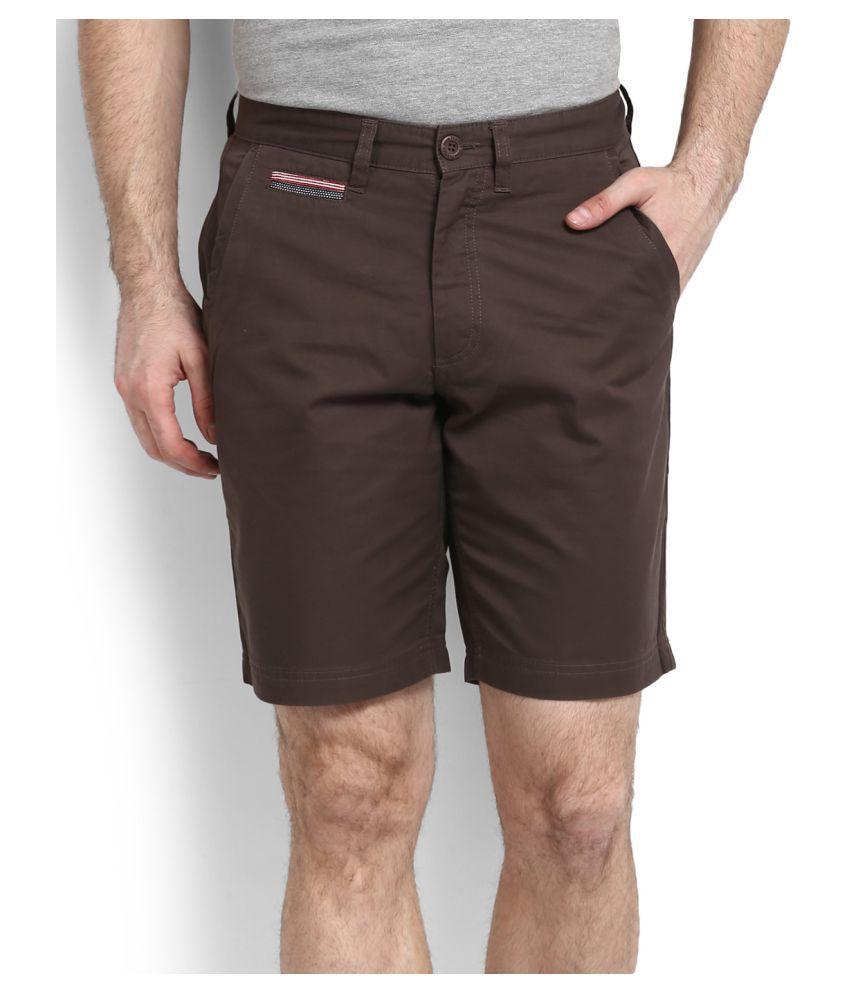 John Players Brown Shorts