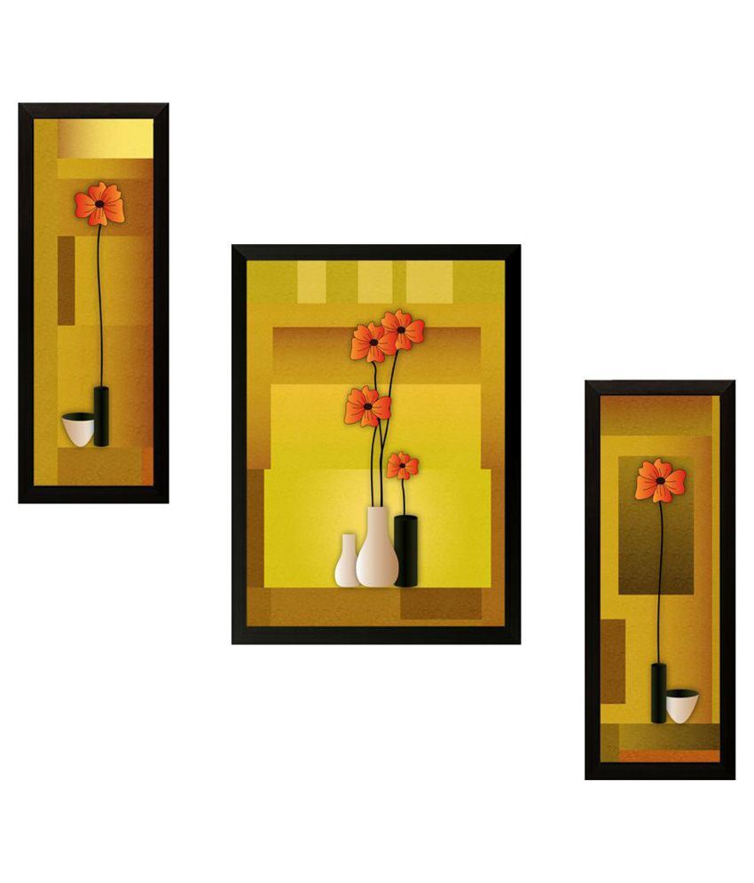 SAF Wood Painting With Frame Set of 3