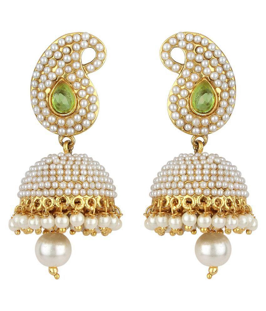 Angel In You White Jhumki Earrings