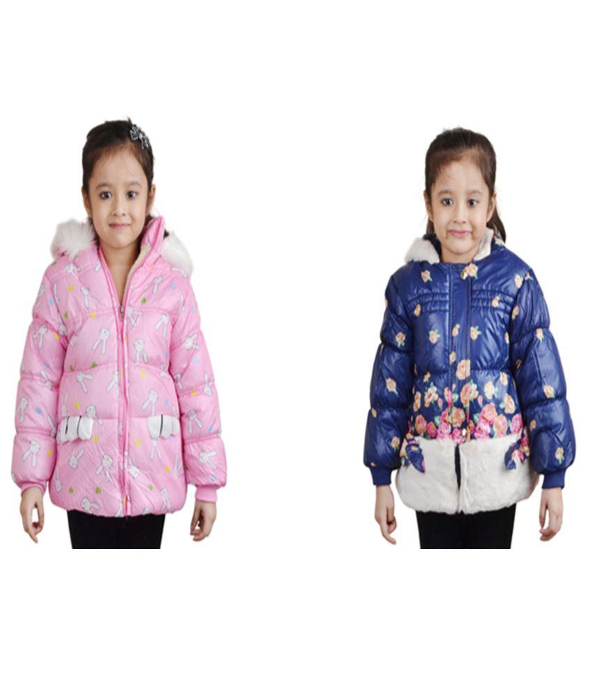 Qeboo Full Sleeves Combo of 2 Nylon Jackets For Girls.