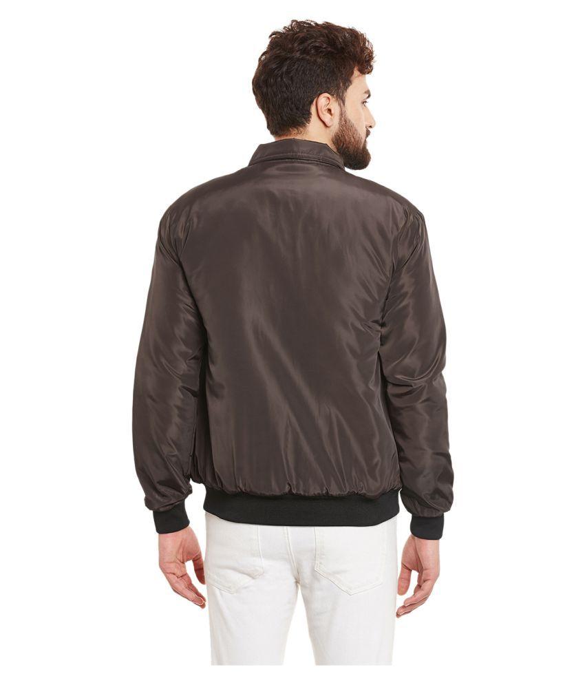 Leather jacket yepme -  Yepme Brown Quilted Bomber Jacket