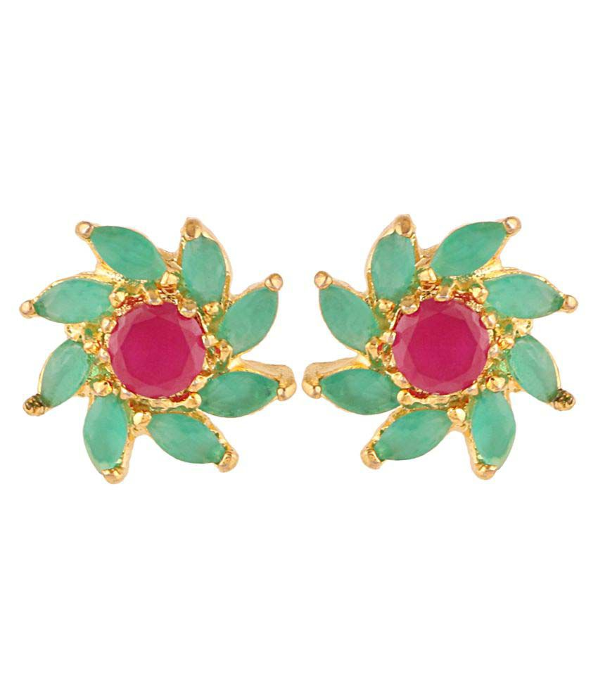 Efulgenz Cz Stud Earrings