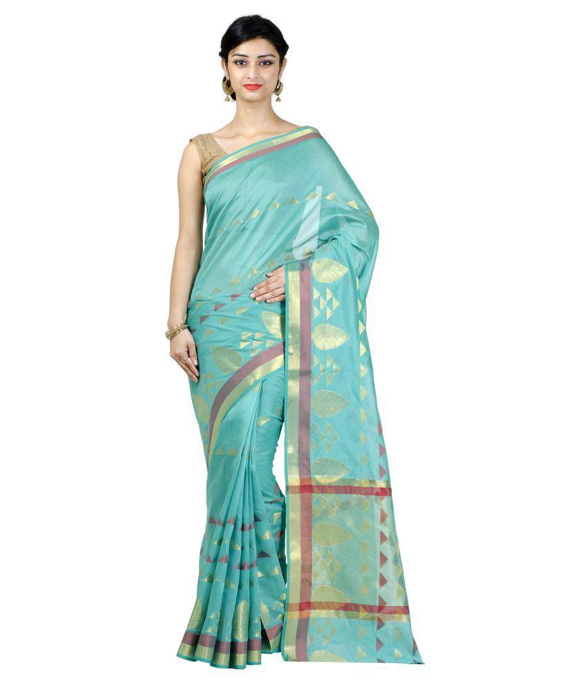 Chandrakala Green Art Silk Saree