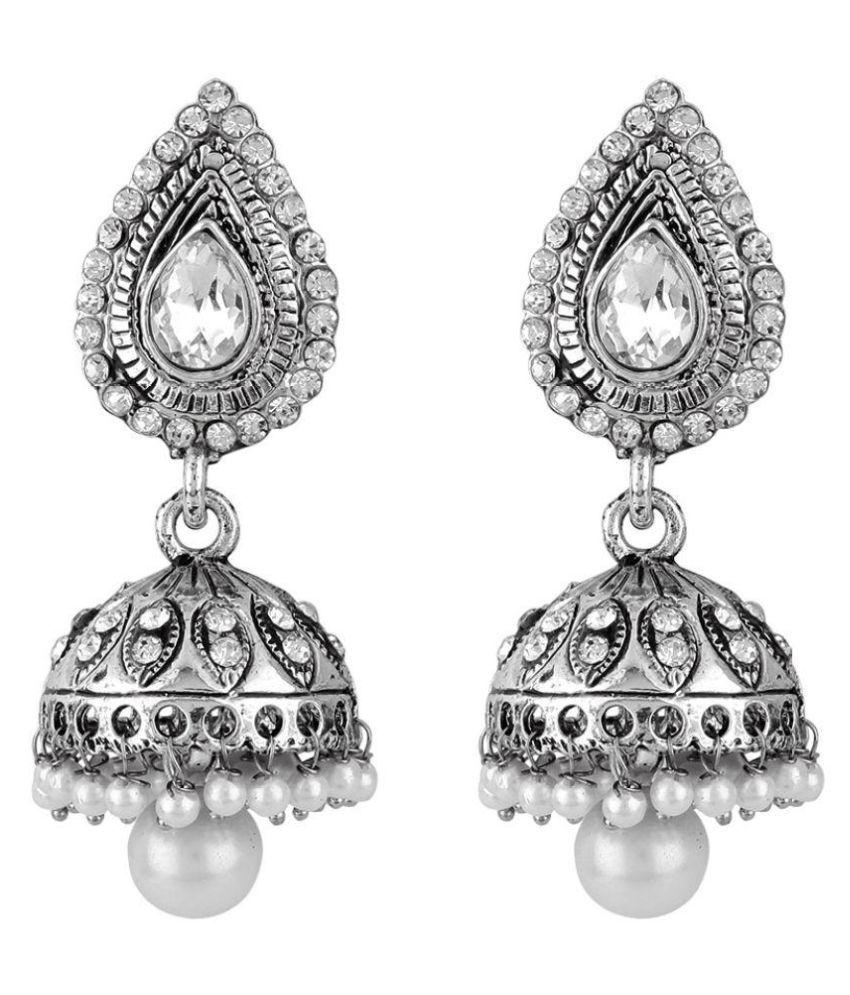 Jewels Guru Exclusive Silver Earrings