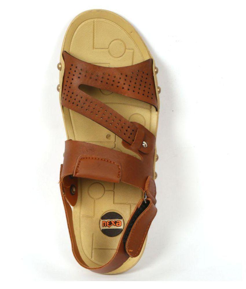 b6f2dd01b740 NEXA Tan Floater Sandals - Buy NEXA Tan Floater Sandals Online at ...