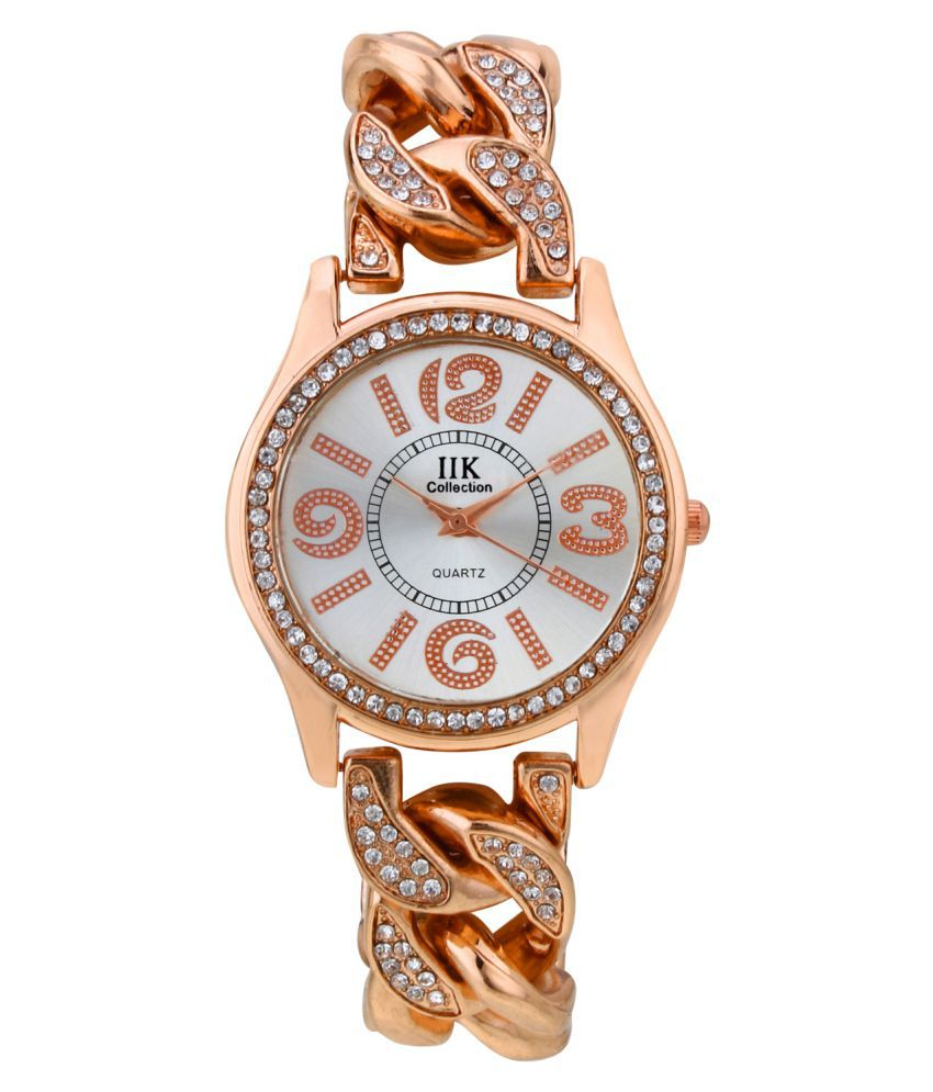 IIK Collection Rose Gold Analog Watch for Women