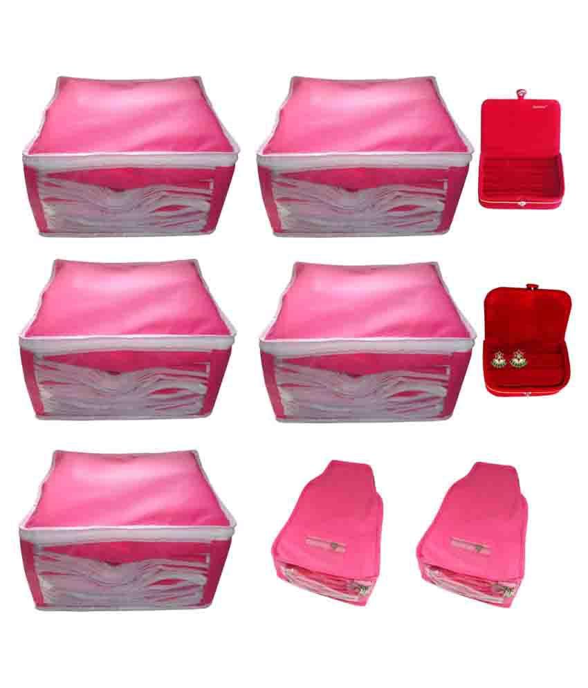 Abhinidi Pink Saree Covers - 9 Pcs