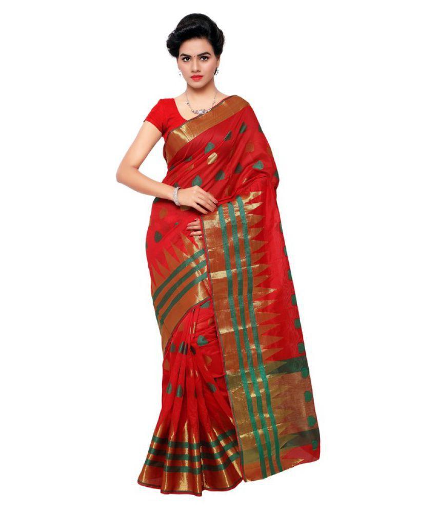 Makewayin Multicoloured Kanchipuram Saree